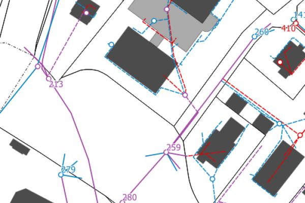 Plan du réseau d'assainissement